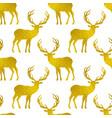pattern with golden deers vector image vector image