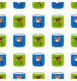 pet shop seamless pattern preserve food for cats vector image vector image