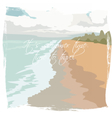 Postcard Summer Beach background vector image vector image