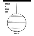 round chandelier in a contour on a white vector image