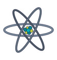 science atom symbol isolated vector image