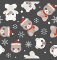 seamless pattern cute teddy bear for use as vector image