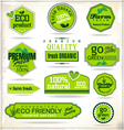 Set of organic labels vector image