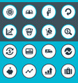 set of simple money icons vector image