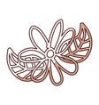 shadow flower cartoon vector image vector image