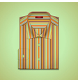 shirt in colorful stripes vector image vector image