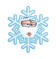 SnowFlake Emoticon Smooch vector image vector image