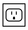 socket electric wall icon vector image
