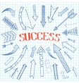 Success arrows icon sketch vector image vector image