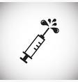 syringe on white background vector image vector image