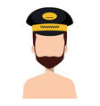 taxi driver shirtless with hat vector image vector image