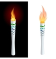 Torch fire championship icon a symbol of victory vector image