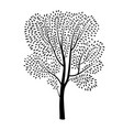 tree silhouette isolated spring nature plant vector image vector image