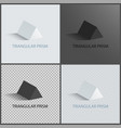 triangular prism collection vector image vector image