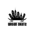 urban skate design template vector image
