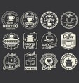 vintage coffee shop and cafe logos badges and vector image vector image