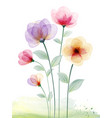 watercolor hand painted with colourful floral vector image vector image