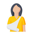 woman with broken arm vector image