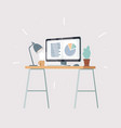 workspace desks office vector image