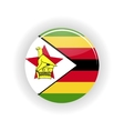 Zimbabwe icon circle vector image