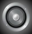 Audio speaker isolated on black background vector image