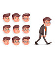 emotions pleased happy satisfied tired weary vector image