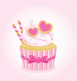 sweet love cupcake vector image