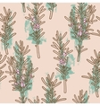 Seamless rosemary background vector image