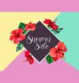 summer sale announcement poster banner flyer vector image