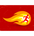 running fire vector image