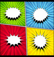 comic backgrounds collection vector image