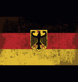 flag of germany in retro style vector image