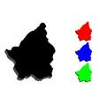 3d map of san marino vector image