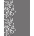 Abstract lace with elements of flowers leaves and vector image vector image