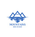 abstract mountains with reflection in the lake vector image vector image