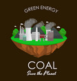alternative energy power industry coal power vector image