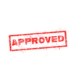 approved red stamp vector image