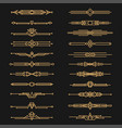 art deco dividers and decorative golden headers vector image vector image