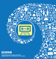 audiocassette icon Nice set of beautiful icons vector image vector image