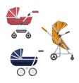 Baby carriage or infant child wagon design vector image