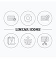 Bank credit card icons Banking signs vector image vector image