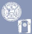 baseball discipline t-shirt vector image vector image
