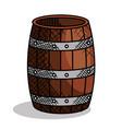 best wine barrel icon vector image vector image