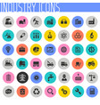 big industry icon set trendy flat icons vector image vector image