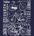 bike poster tee graphic design vector image