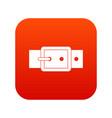 black buckle belt icon digital red vector image vector image