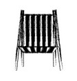 blurred thick silhouette of beach chair front view vector image vector image