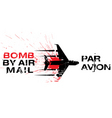 bomb by air mail vector image vector image