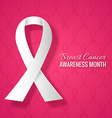 Breast Cancer Awareness Month Pink Background vector image