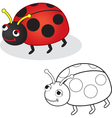 Bug toy vector image vector image